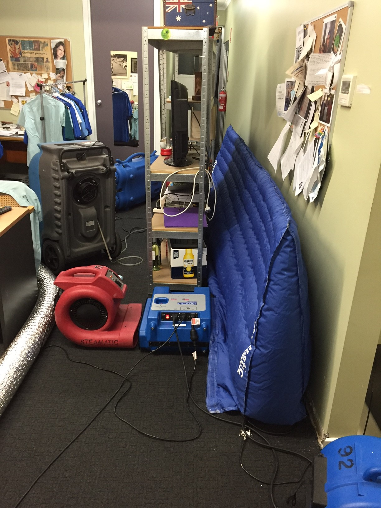 Water Damage Target Drying Using Heat Mats Steamatic